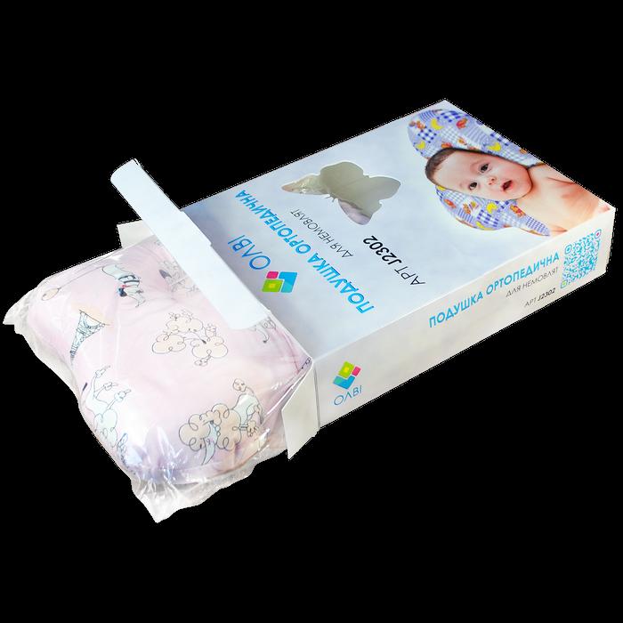 """Подушка для новорожденных """"Бабочка"""" в  коробке ОП-02 - 1"""