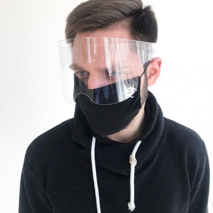 Защитный акриловый экран для лица в форме очков высотой 9 см - 3