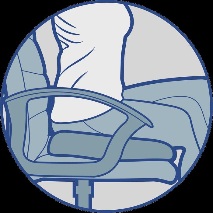 Ортопедическая подушка ректальная с эффектом памяти  (J2512) - 1