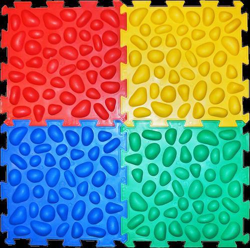 Коврик массажный с эффектом морской гальки Пазлы 4 элемента - 1