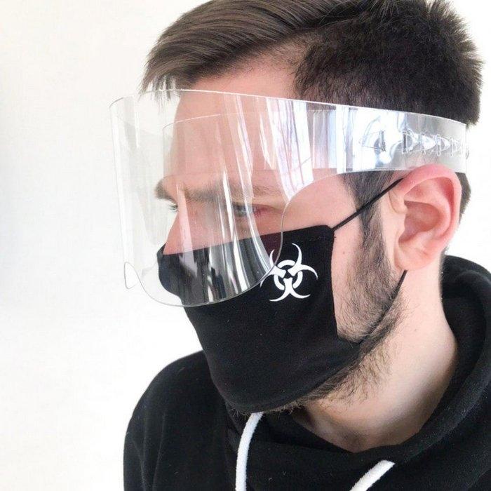 Защитный акриловый экран для лица в форме очков высотой 9 см - 2
