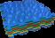 Коврик массажный с эффектом морской гальки Пазлы 6 элементов - 1
