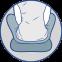 Ортопедическая подушка ректальная с эффектом памяти  (J2512) - 2