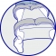 Ортопедическая подушка для фиксации бедер  (J2506) - 1